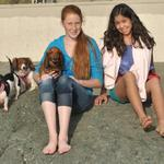 Katie & Regina bond with Genete's Doxies.