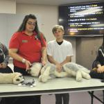 Genete & her Jr Vets teach Animal CPR basics.