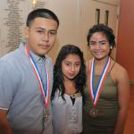 Jr Vets Diego Alcarez & Crystal Cabanas (with youth Lesly Diaz) earn their Silver Presidential Volunteer Service Awards under DogE911.